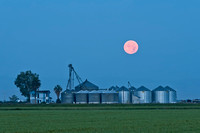 Moon over Farm Glenn County 13150
